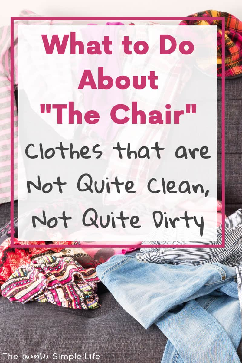 You're going to love this clothing organization hack for your bedroom. Figure out what to do with clothes that aren't quite dirty laundry yet! #organize #organization #bedroomorganization #laundry #laundryhack #homeorganization #closetorganization #clothingrack #clothingtip #bedroomtips #messy #laundrypiles