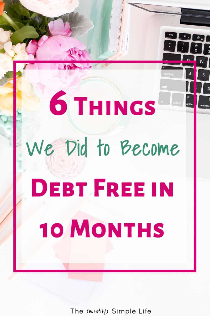 We are debt free and I\'m sharing all of our debt payoff tips! Get my spending tracker spreadsheet and thermometer worksheet/printable too! Great inspiration and motivation for how to pay off debt fast - actionable ideas! #debtfree #debtfreecommunity #debtpayoff, #debtsnowball #daveramsey #debt #debtrelief #frugal #frugalliving #frugal2fab #savemoney #budget