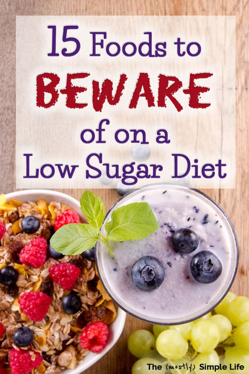 There are so many foods that you may thing are healthy but are actually super high sugar foods to avoid if you\'re going zero sugar or doing a sugar detox. There are breakfasts, snacks, desserts, dinner and more that not sugar free at all! There are great tips for beginners in this post for what to avoid for clean eating! #sugarfree #zerosugar #sugardetox #sugar #diet #lowsugar #healthy