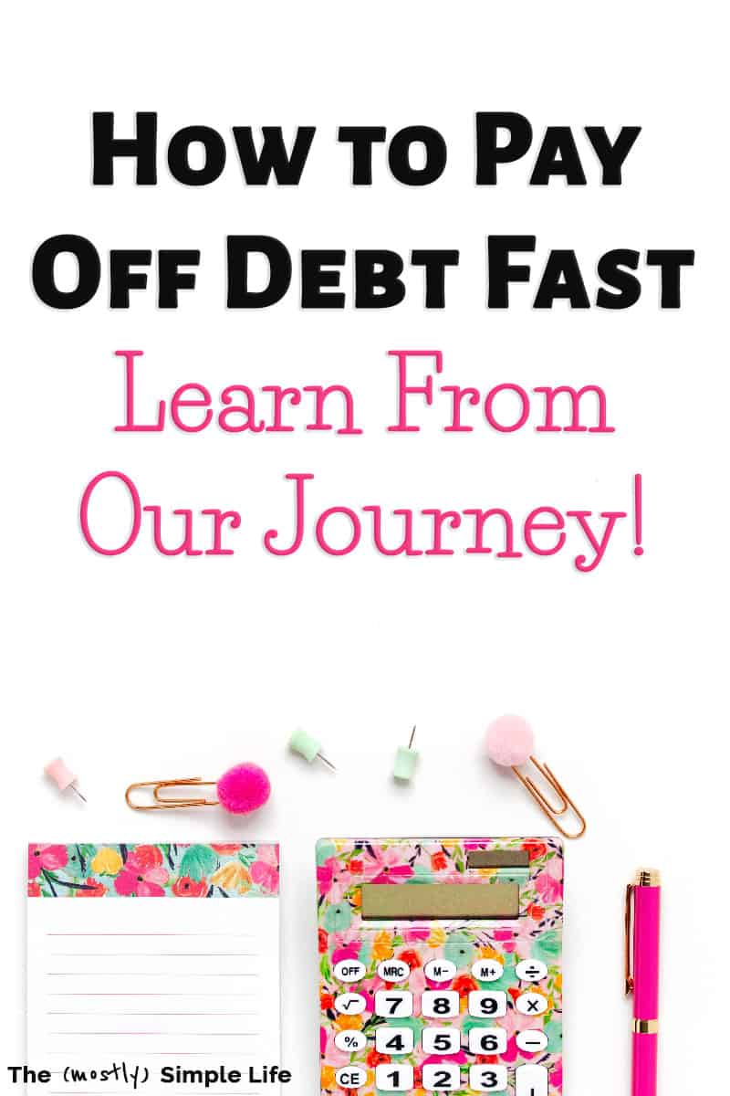 Learn how to become debt free from our journey! We\'re sharing tips, printables, visual charts, inspiration and more! We achieved financial freedom while spending on a credit card. We did the debt snowball method like Dave Ramsey recommends. Living debt free is fabulous and I want to help you get there! #debtfree #debtfreecommunity #money #budget #daveramsey