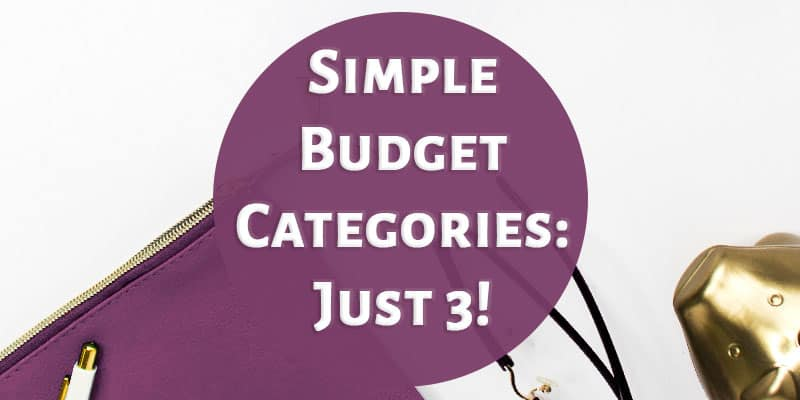 Simple Budget Categories: Just 3!
