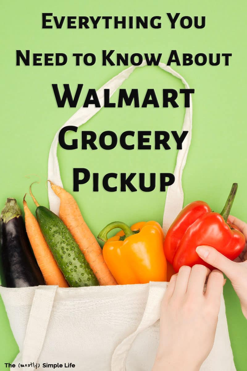 Have you tried Walmart Grocery Pickup yet? It\'s so easy! I can make my meal plan at home, create my grocery list in the Walmart Grocery Pick Up app, then go pick it all up in minutes! I\'ve got a coupon you can use to get $10 off on your first order. Plus read all about everything you need to know before you try it! #review #walmart #grocerypickup #savetime #walmartgrocerypickup