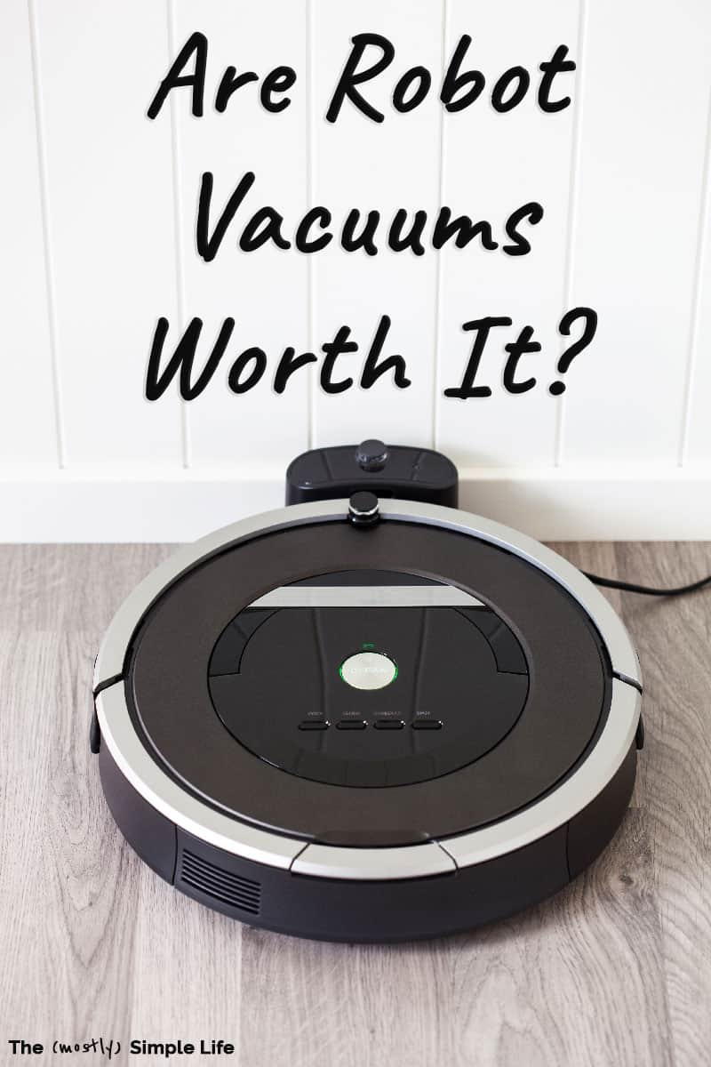 Should you get a robot vacuum cleaner? I love my eufy robot vacuum! It\'s one of the best lazy girl cleaning hacks of all time! But it might not work for everyone. Read my review that includes tips and how well the robot vacuum deals with all kinds of floors, bedrooms, living room, kitchen, pets, etc. #cleaning #cleanhouse #cleaninghacks #hacks