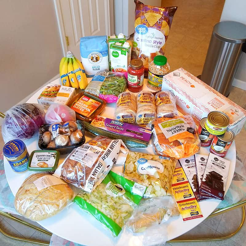 Mostly vegan grocery haul