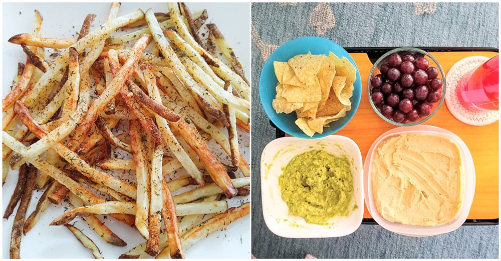vegan snacks and side dishes
