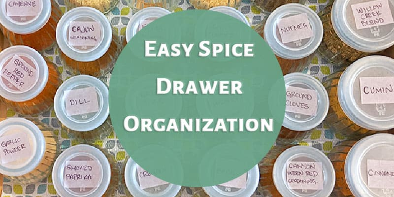 Easy Spice Drawer Organization