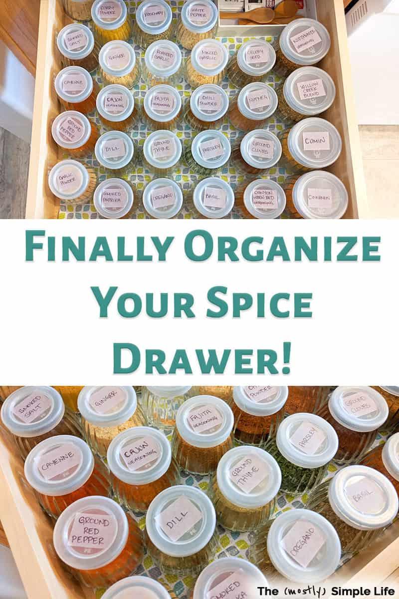 Easy Spice Drawer Organization