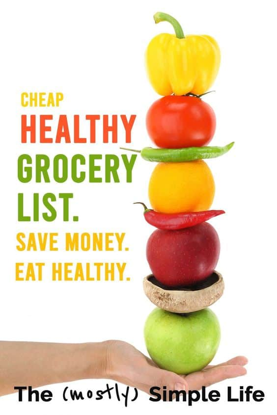cheap and healthy grocery list
