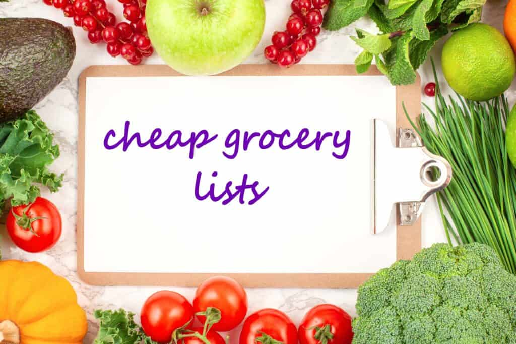 Cheap grocery lists header image
