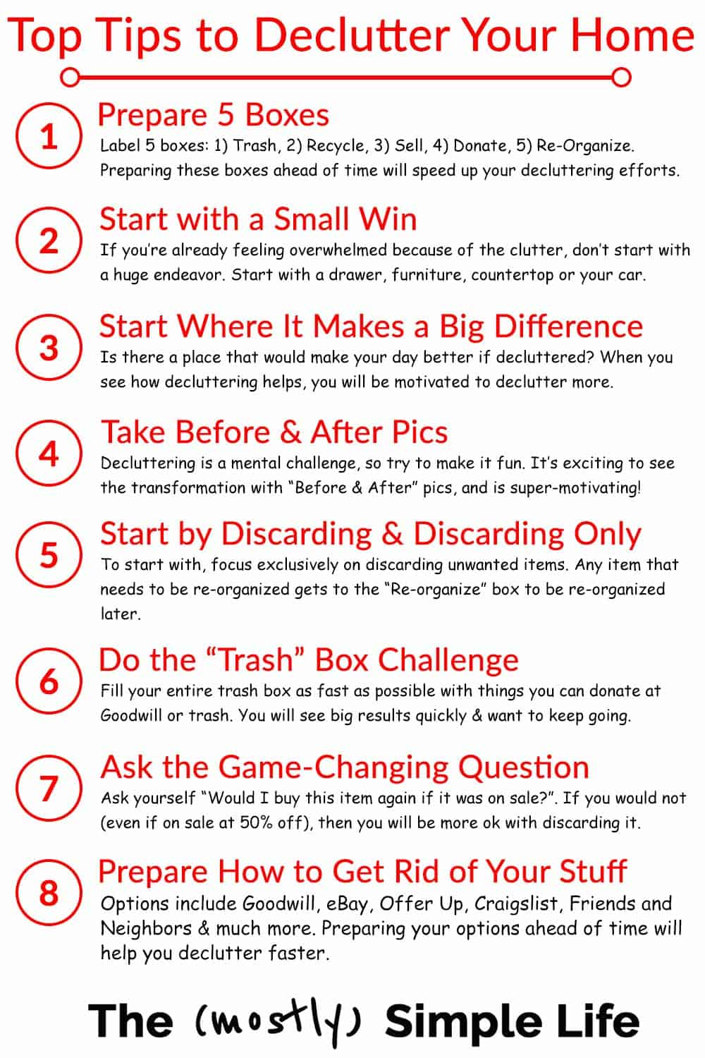 Top 8 Tips to Declutter & See Results Fast