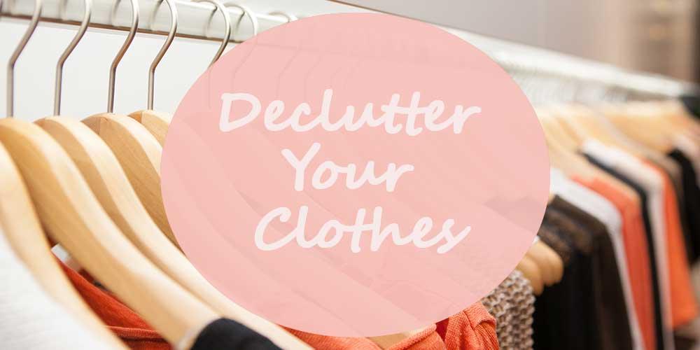 wardrobe to declutter