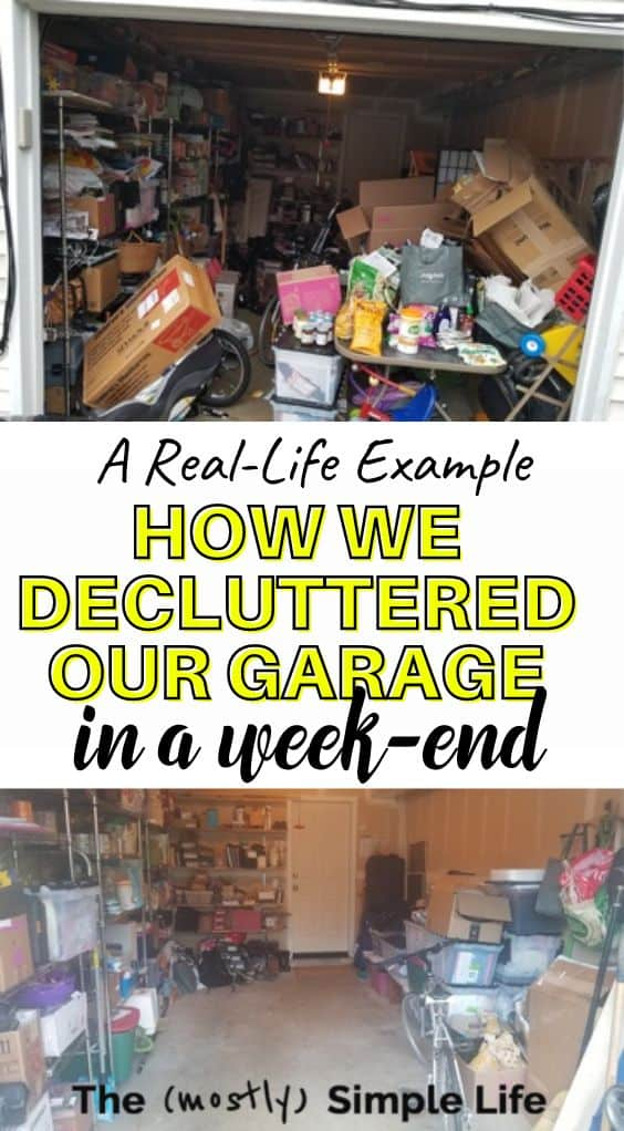 Top Tips to Declutter a Garage, with A Real-Life Example