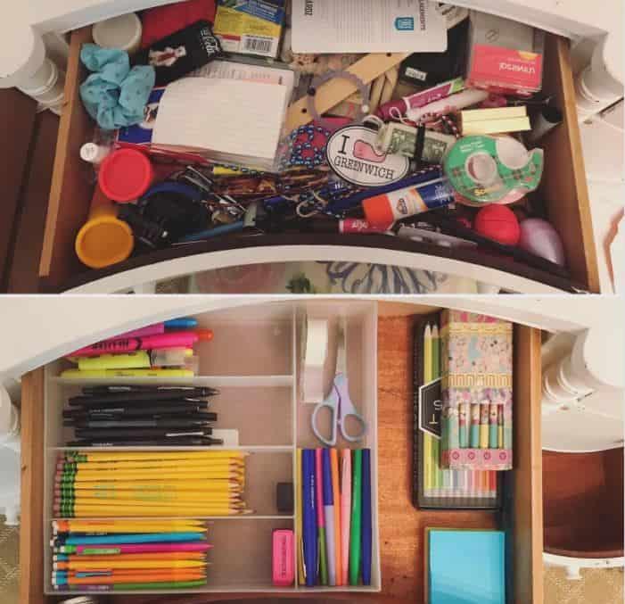 drawer organized
