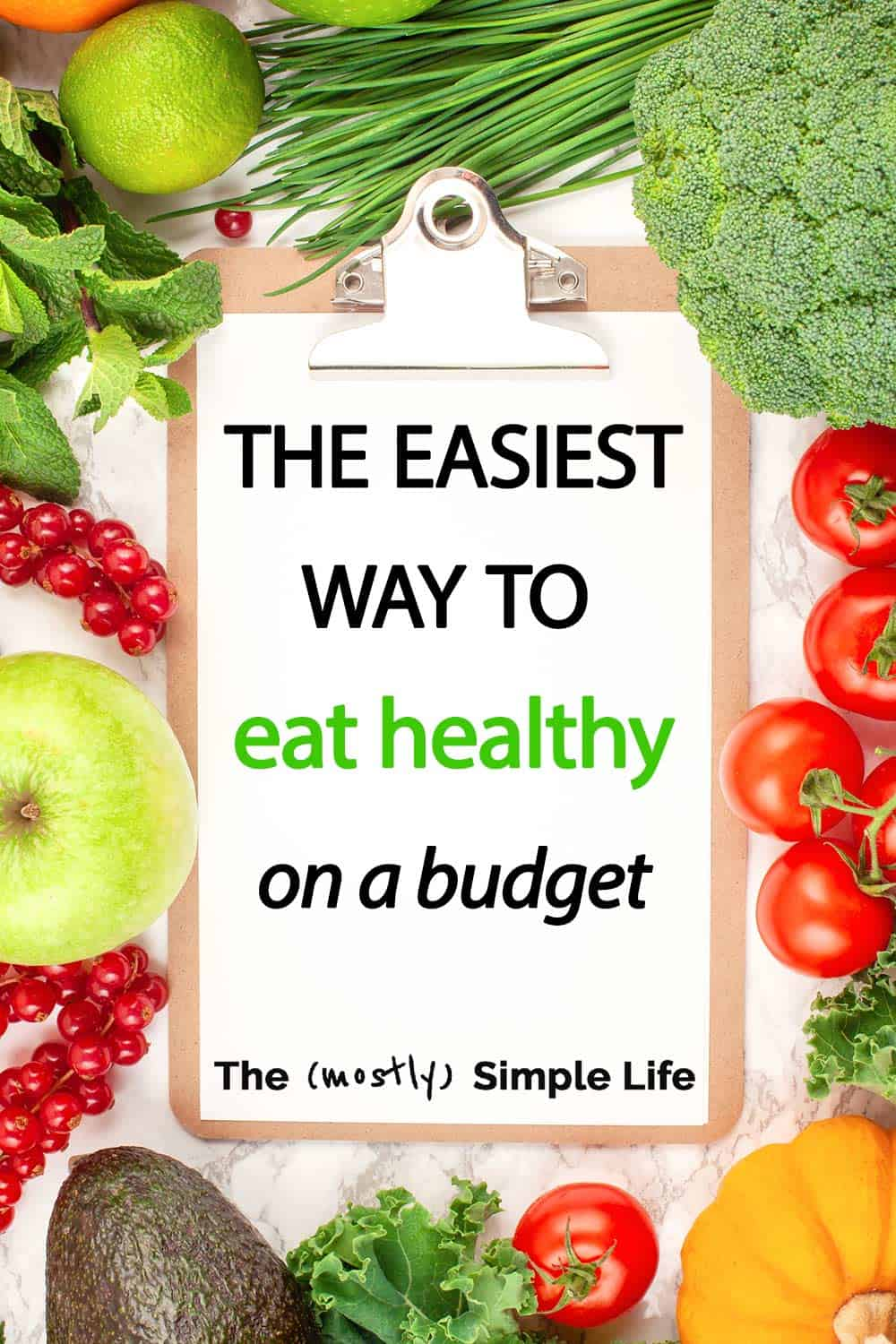 The Easiest Way to Eat Healthy on a Budget