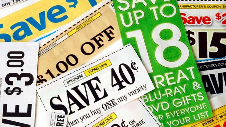 lots of coupons