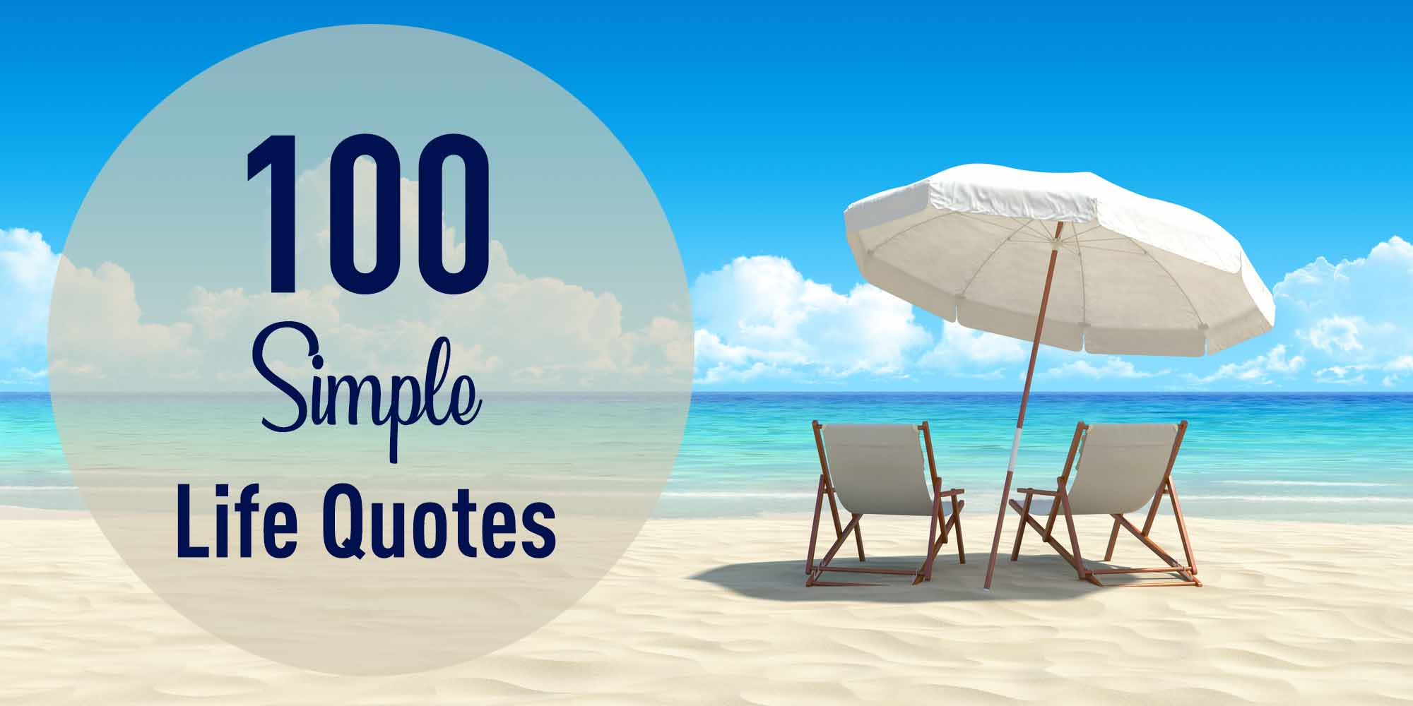 header for 100 simple life quotes