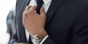 man in a suit closeup