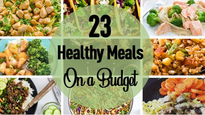 collage of healthy meal pictures